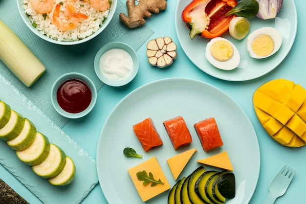 맛있는 flexitarian 다이어트 배열