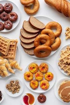 おいしい食品の品揃えの上面図
