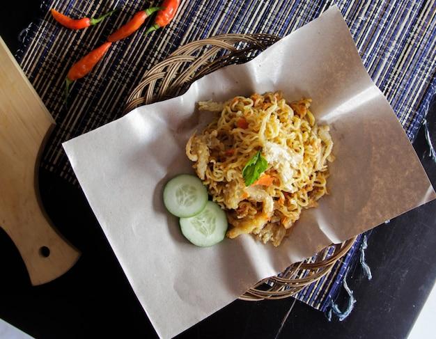 Delicious food drink indonesian mie geprek