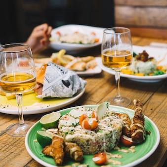 Delicious food scene