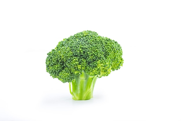 Delicious fresh broccoli, isolated on white