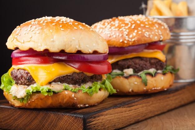 Delicious fresh home made burger.