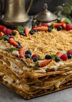 Delicious fruits cake