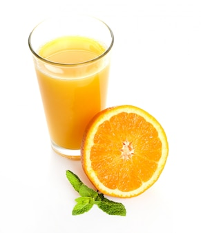 Delicious glass of orange juice