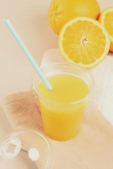 Delicious glass of orange juice