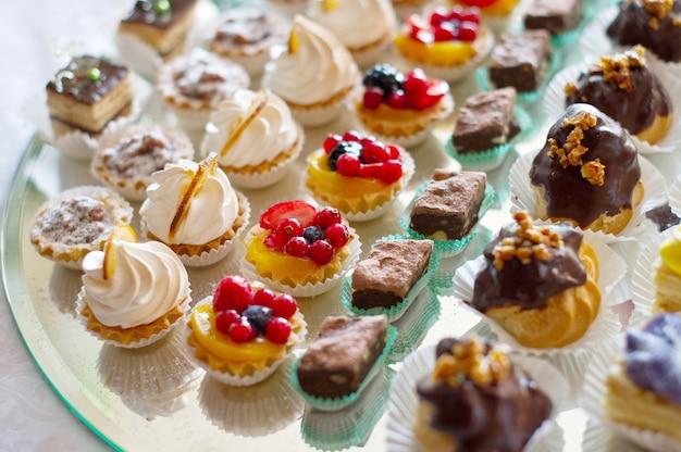Delicious gourmet pastries