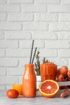 Delicious grapefruit drinks
