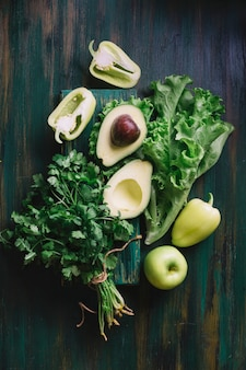 Delicious green assortment for a healthy snack
