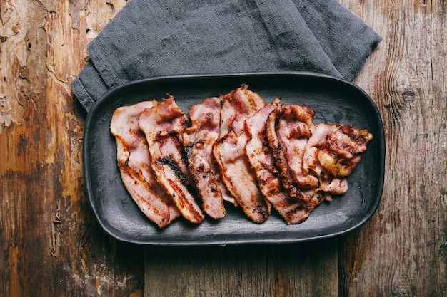 Delicious grilled bacon