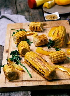Delicious grilled corn