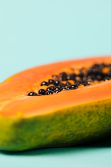 Delicious half of papaya fruit