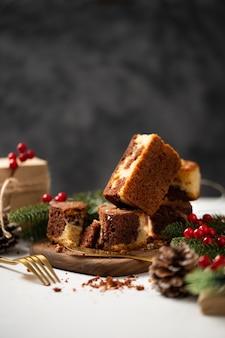 크리스마스 시즌을 기념하는 맛있는 수제 디저트