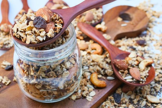 Delicious homemade granola