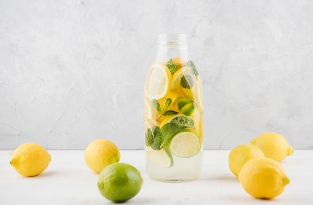 Delicious homemade lemonade ready to be served