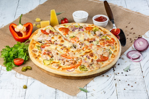 Delicious homemade pizza