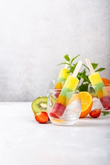 Delicious homemade popsicles
