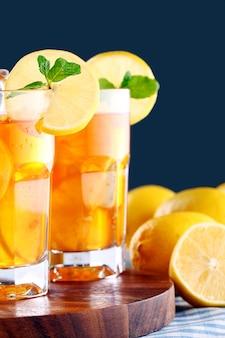 Вкусный чай со льдом