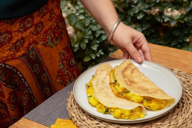 맛있는 인도 도사 구성