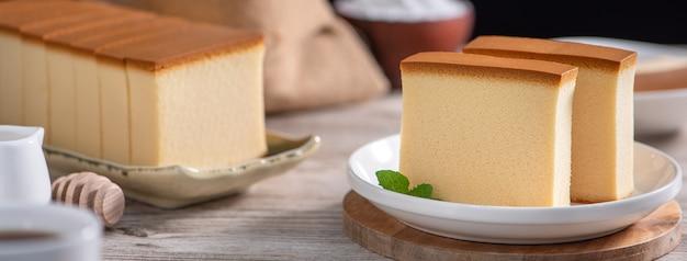 맛있는 일본식 스폰지 케이크 카스텔라(카스테라)