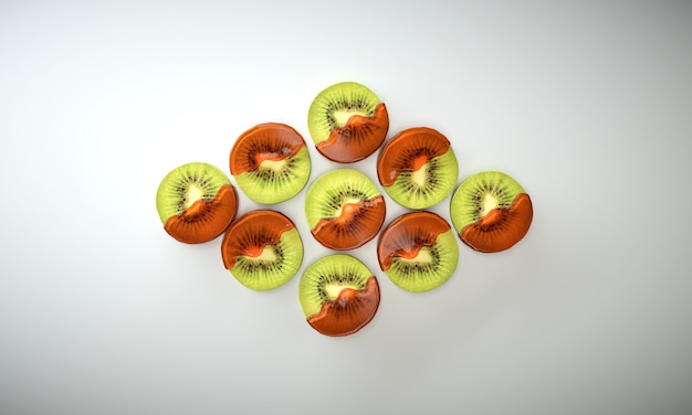Delicious kiwi slices covered in orage marmalade