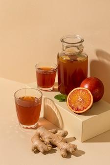 Disposizione deliziosa della bevanda del kombucha