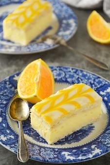 Delicious lemon drizzle cake, lemon crust cake dessert.
