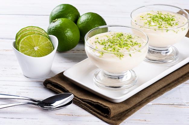 Вкусный лимонный мусс. освежающий и вкусный десерт - лаймовый мусс