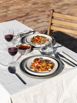 チョリソソーセージ組成の美味しいお食事