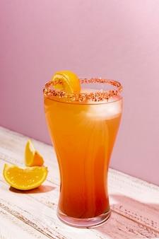 Delicious michelada beverage composition