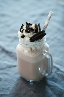 Вкусный молочный коктейль