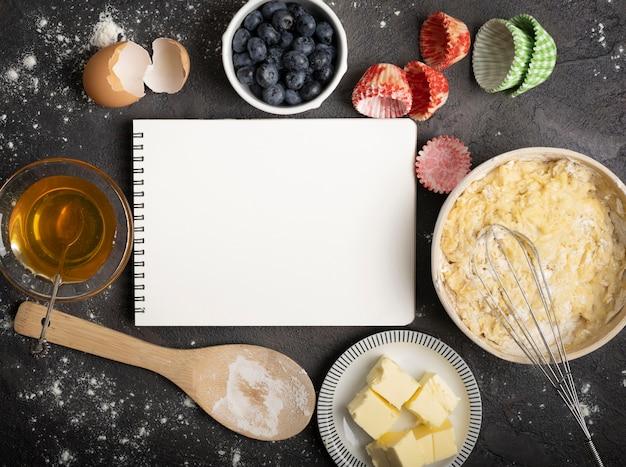 Deliziosi muffin copia il blocco note dello spazio