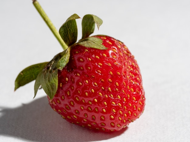 Delicious natural strawberries on a white background.