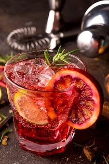 Delicious negroni cocktail