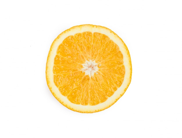 Delicious orange with white background
