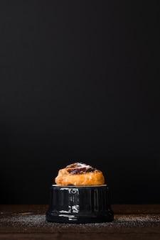 Delicious pain aux raisin with sugar
