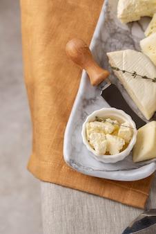 Deliziosa composizione di formaggio paneer