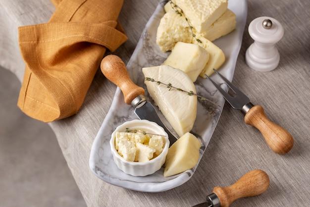 Вкусная композиция из сыра панир