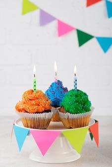 Delicious party cupcakes arrangement