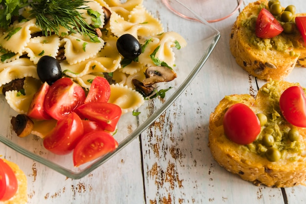Delicious pasta dish with ciccheti