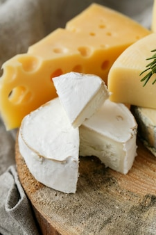 Delicious pieces of cheese