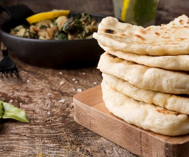 Delicious pita and pakistan food