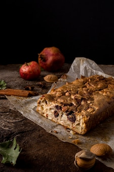 Delicious plums bread arrangement