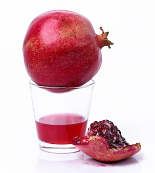 Delicious pomegranate and juice