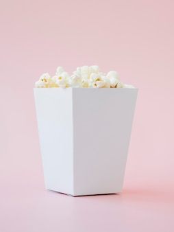 Delicious popcorn box ready to be served