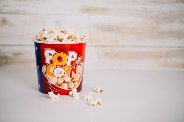 Delicious popcorn in bucket