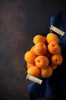 Delicious ripe apricots copy spac