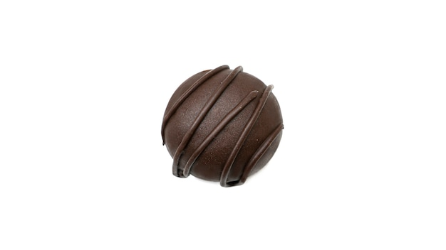 Delicious, round, chocolate candy