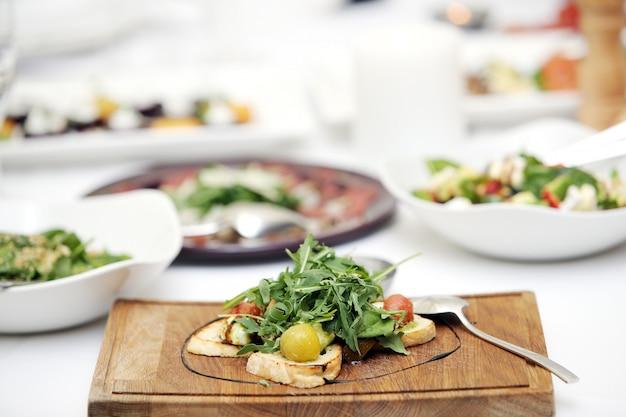 Delicious salad at a banquet