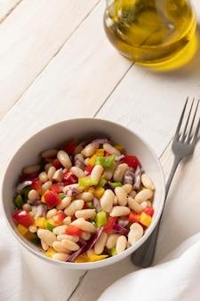 Delicious salad bean high view