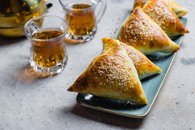 Delicious samosas samsa with meat